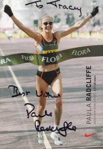 Paula Radcliffe Olympic Athlete Hand Signed Photo