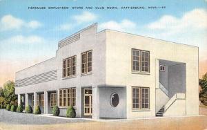 Hattiesburg Mississippi Hercules Employee Store Club Room Postcard K85950