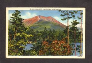 ME Mt Katahdin Baxter State Park Linen Postcard Maine PC