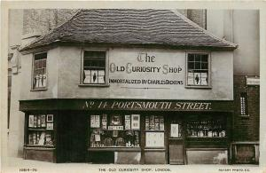 RPPC The Old Curiousity Shop Charles Dickens Portsmouth St London UK Postcard