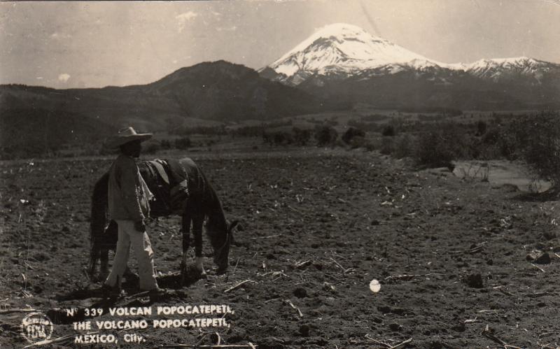 RP: MEXICO CITY , Mexico , PU-1940; The Volcano Popocatepetl