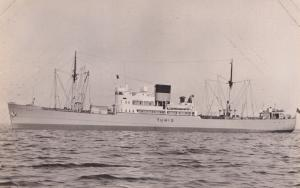 MS Tunis Greek Swedish America Line DFDS Ship RPC Postcard