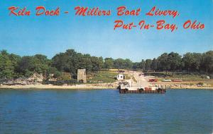 Put In Bay Ohio Millers Boat Livery Kiln Dock Vintage Postcard K107606