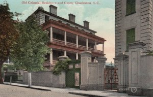 CHARLESTON, South Carolina, 1900-10s; Old Colonial Residence and Gates