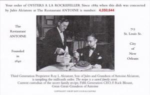 Oysters A La Rockefeller No 4,050,644 Restaurant Antoine St Louis Street New ...