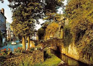 Bad Muenstereifel Burgaufgang an der Erft Bruecke Bridge Vintage Cars Auto