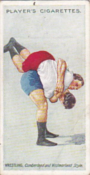 Cigarette Card Player and Sons Wrestling & Ju-Jitsu 1913 No 16 The Buttock