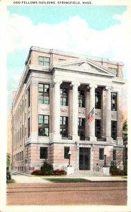 Massachusetts Springfield Odd Fellows Building 1934