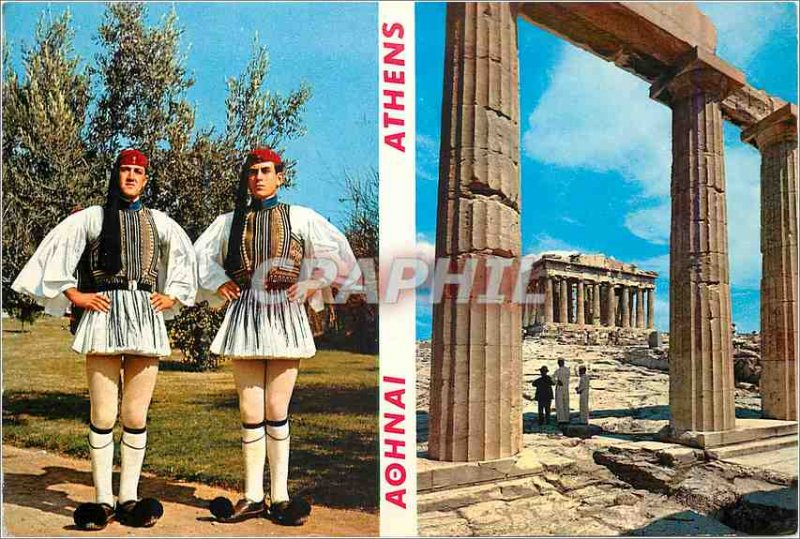 Postcard Modern Athens Acropolis Parthenon seen in the Propylees Athene Royal...
