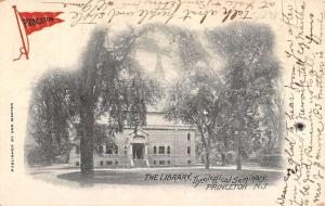 Princeton New Hampshire Theological Seminary Library Antique Postcard K91746