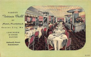 Famous Terrace Grill of Hotel Muehlebach, Kansas City, Missouri, Used