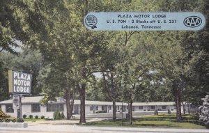 LEBANON , Tennessee , 1950-60s ; Plaza Motor Lodge