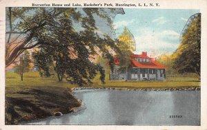 Hecksher's Park, Huntington, Long Island, N.Y., Early Postcard, Used in 1925