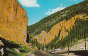Canada Red Rock and Iron Gates Eastern Entrance To Radium Hot Springs British...