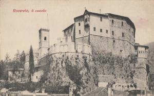 Italy Rovereto castle early postcard