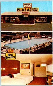 BREEZEWOOD, Pennsylvania PA   Roadside PLAZA MOTOR LODGE Best Western Postcard