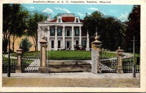 Mississippi Natchez Dunlieth Home Of J N Carpenter