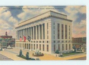 Linen COURTHOUSE SCENE Nashville Tennessee TN AE9953