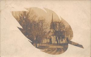 Liberty Center OH~Where I Went to Church~United Methodist?~Leaf Portal~RPPC 1908
