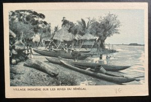Mint French Senegal Real Picture Postcard RPPC Indian Village On The River