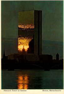 Massachusetts Boston Hancock Tower At Sunrise