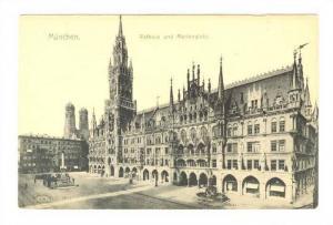 Munchen , Germany , 00-10s ; Rathaus und Marienplatz