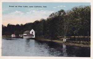 Near LA PORTE, Indiana, PU-1916; Scene On Pine Lake