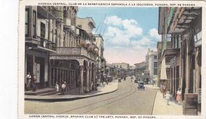 PANAMA, Republic of Panama; 10-20s; Lower Central Avenue, Spanish Club at left