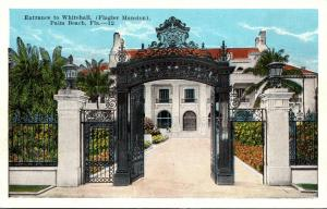 Florida Palm Beach Entrance To Whitehall The Flagler Mansion