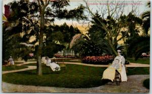 Vintage California Postcard GLENDALE SANITARIUM Grounds in Winter 1910s Unused