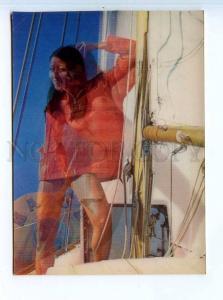 251670 PIN UP NUDE girl yaht Toppan 3-D lenticular postcard