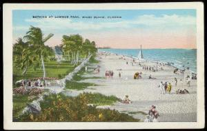 Lummus Park Bathing Beach Miami Beach FL unused 1930s