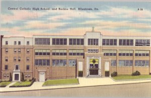 ALLENTOWN - FRONT view of Central Catholic High School and Rockne Hall, 1940s
