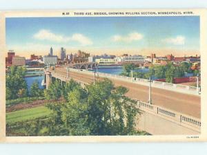 Linen BRIDGE SCENE Minneapolis-St. Paul Minnesota MN H8660