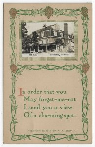 RPPC, Rochester, Vermont,  Early View of an Old Home With a  Verse, 1915