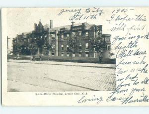 Pre-1907 CHRIST HOSPITAL Jersey City New Jersey NJ A3094