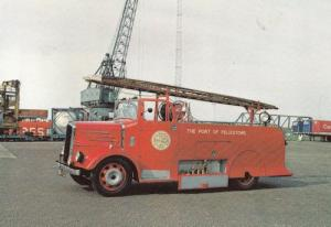 Felixstowe Port  Fire Engine Suffolk Postcard