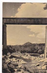 Argentina , Sierras de Cordoba , Puente Ferroviario Sobre el Rio - Cosquin , ...