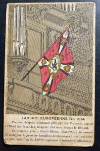 Mint France Picture Postcard WWI First German Flag Taken By French Army