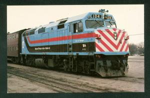 City of Chicago Regional Transportation RTA No 104 Train Railroad Postcard