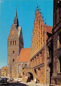 GG11493 Hannover Marktkirche und Altes Rathaus Auto Cars Town hall