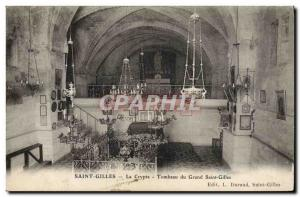 Old Postcard Saint Gilles crypt Tomb of the Great Saint Gilles