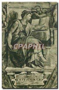Old Postcard Citta del Vaticano Cappelle Sistina Michelangelo The Sibyl Eritrea