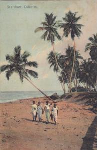 COLOMBO, Sri Lanka, 1900-1910's; Sea Shore