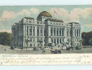 Pre-1907 Very Early View CITY HALL Newark New Jersey NJ A3295
