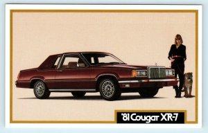 1981 MERCURY COUGAR XR-7   Advertising Postcard