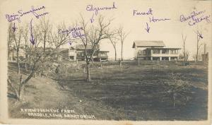 Oakdale Iowa Tuberculosis Sanatorium~Buildings Identified~Cottages~1910 RPPC