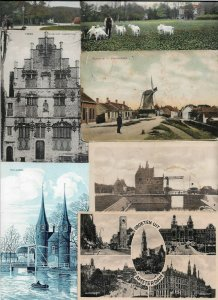 Netherlands - Postcard Lot Mix Windmills Old Buildings More 60 Postcards - 01.03