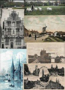 Netherlands - Postcard Lot Mix Windmills Old Buildings More 60 Postcards - 01.03