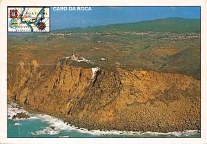 Portugal with Map, Cabo da Roca The western most point in cont. Europe